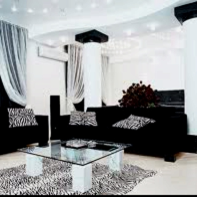 Zebra Living Room!