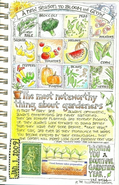 The most noteworthy thing about gardeners  This artist's sketchbooks are a treasure to behold! http://valwebb.wordpress.com/see-my-sketchbooks/