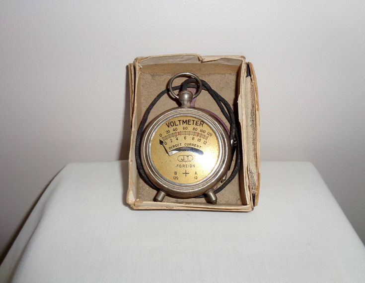 Vintage Handheld Dual Scale JT Pocket Radio Voltmeter 0-120 Volts. 1920s/30s. Working Measuring Device. Engineering Instrument. http://etsy.me/2EHHaLb #art #1920sdesign #dualscale #germany #giftideas #mancave #measurementdevice #pocketvoltmeter #vintagetechnology