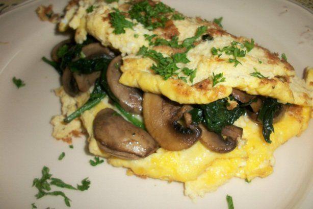 Spinach Mushroom Kefir Omelette