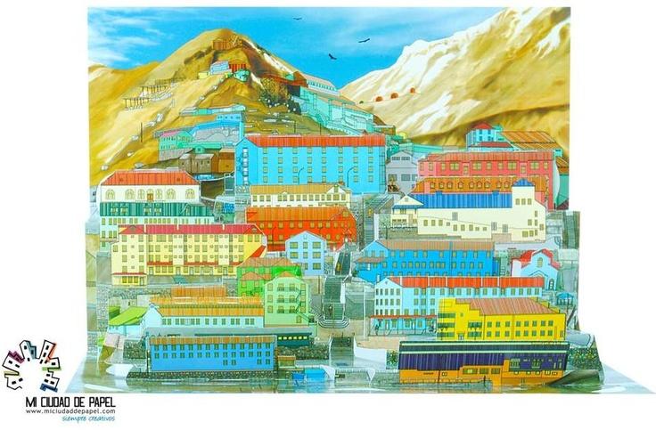 Homenaje de Mi Ciudad de Papel para la ciudad minera de Sewell, ubicada en la comuna de Machalí, Chile. Se encuentra a 150 km al sur de Santiago y a 64 km de la ciudad de Rancagua. Fue declarada Patrimonio de la Humanidad por la Unesco en el año 2006, por su incalculable valor histórico y cultural para Chile y el mundo. $8,00 USD