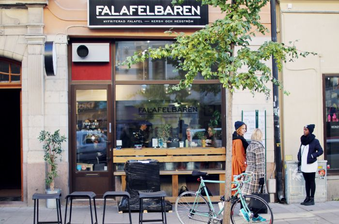 Falafelbaren // Best falafel place in town. Make sure to try their combo salad with a mix of spreads, falafels, börek and pickled vegetables. GKS