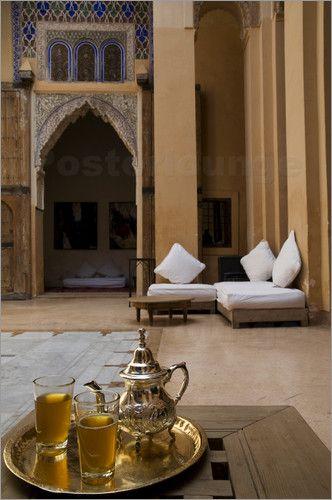 Tea service Morocco, Riad Dar Chérifa.