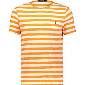 Orange & White Stripe T Shirt