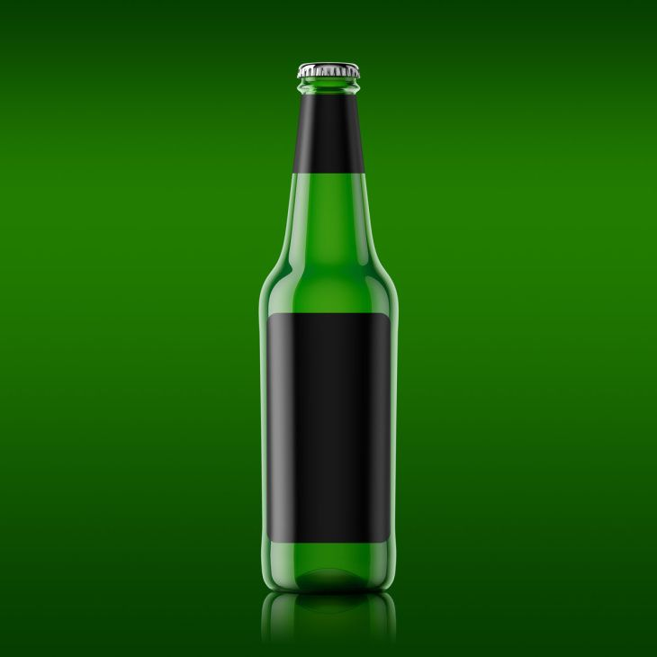 Beer Bottle Mockup Free Psd File Bottle Mockup Beer Bottle Template Beer Bottle Design