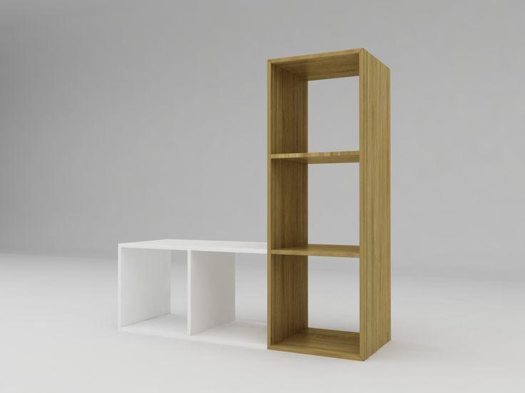 Minimalist modern furniture - Rak Buku Anak Kayu Minimalis - White Elegant Teak