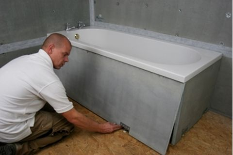 Marmox Bath Panels are easy to fit surround panels for baths. Easily cut the panels to the correct length and adjust the height using the feet supplied. The Panels are completely waterproof and ready to be tiled once fitted. Included in a Marmox Bath Panel kit is the following... 1 x 600mm x 1800mm x 30mm Marmox Board 1 x 600mm x 800mm x 30mm Marmox Board 4 x Adjustable Feet already fitted to the panels.