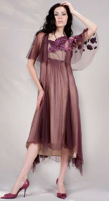 Old Hollywood dress in Ruby and Violet
