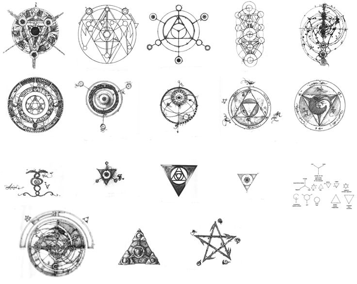 Symbols from the Dark Crystal ! Beautiful combinations of alchemical, geomantic and esoteric designs