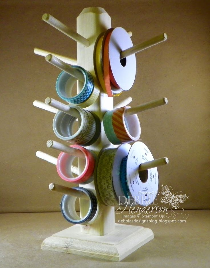 Washi Ribbon Holder Combo for sale on my blog, 2 options, made by my husband! Debbie Henderson, Debbie's Designs.