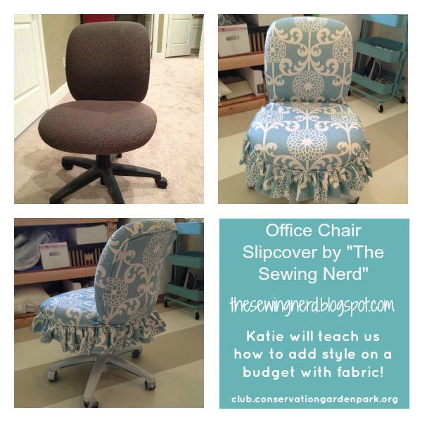 Office Chair Slipcover: The Sewing Nerd