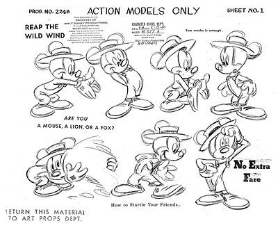 Disney Model Sheets