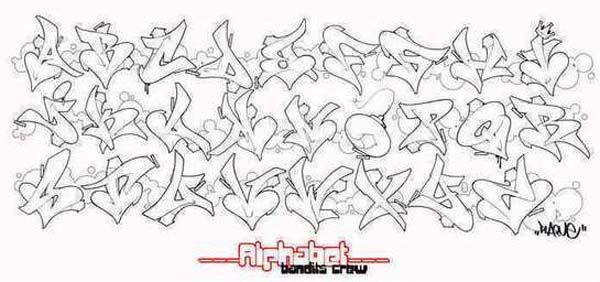 Graff alphabet