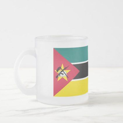 Mozambique Flag Frosted Glass Coffee Mug - home gifts cool custom diy cyo