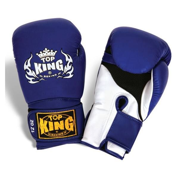 """Top King Blue Boxing Gloves """"Super Air"""" available from http://www.topking.eu"""
