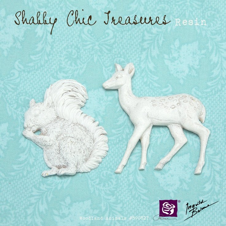 Shabby Chic Resin Treasures - Woodland Animals
