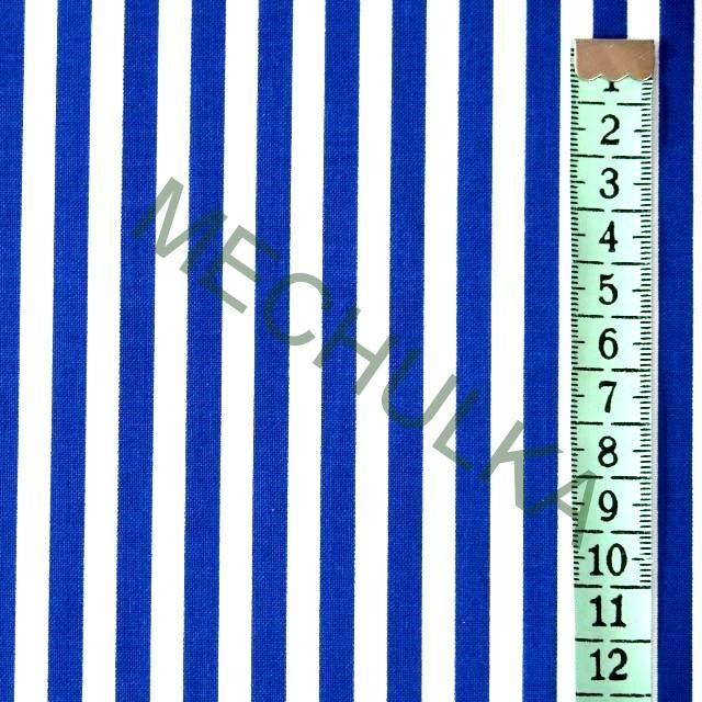 Modré pruhy / proužek tenký - látka - pruhovaná metráž - bavlna