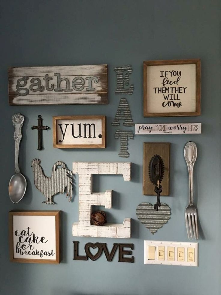 50+ Wall Décor Concepts for 2018 Eating Room Pattern