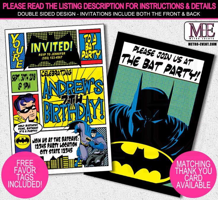 The 25+ best Batman invitations ideas on Pinterest | Batman party ...
