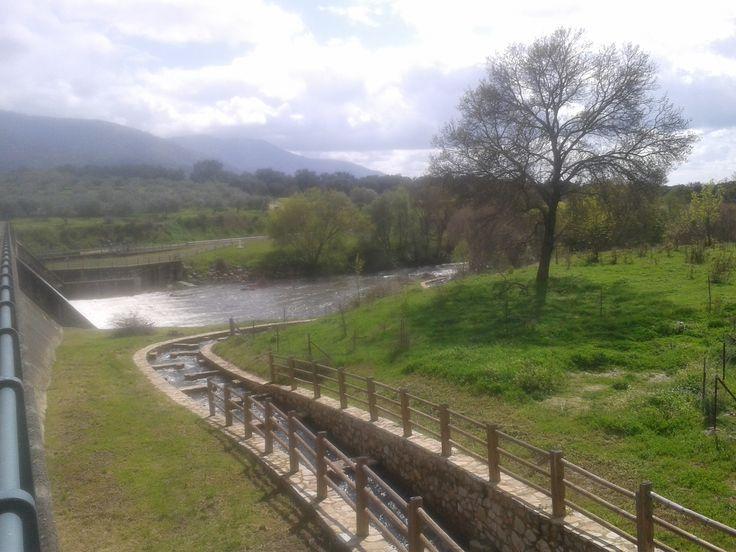 El embalse de Aldeanueva posee estas pequeñas arquetas que hacen posible que los peces puedan remontar las presa.