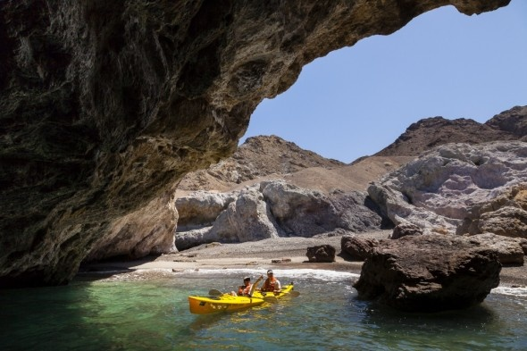 Exploring a cave on the Isla San Marcos in Baja California, Mexico TRAVEL CALIFORNIA USA BY  MultiCityWorldTravel.Com For Hotels-Flights Bookings Globally Save Up To 80% On Travel Cost Easily find the best price and ...