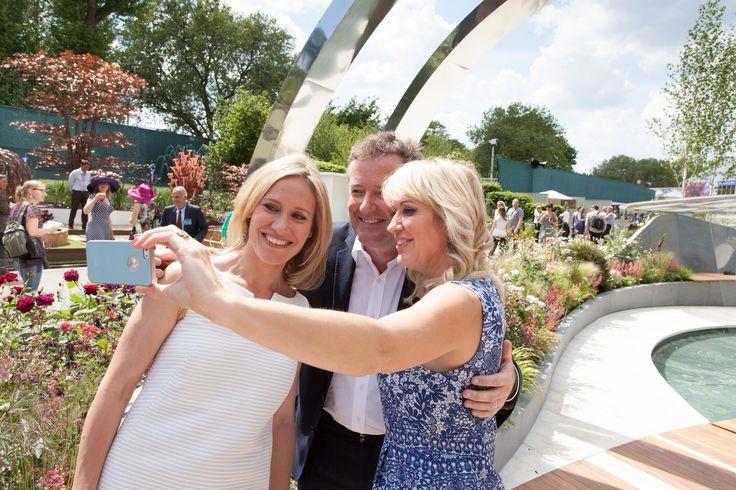 Celebrities visiting the Positively Stoke-on-Trent Garden at 2014 #RHSChelsea Flower Show  www.bartholomewlandscaping.com