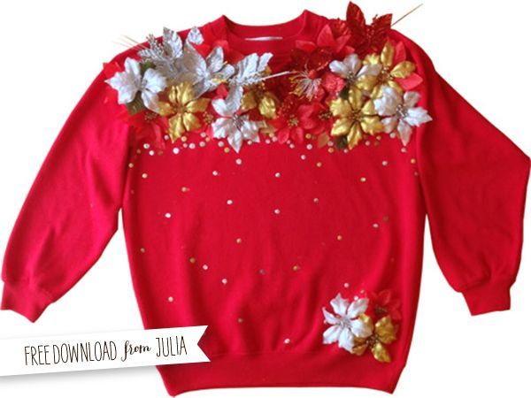 diy ugly sweater I don't know if there are going to be ugly sweater parties this year but I shall be prepared!