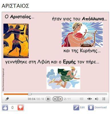 Δραστηριότητες, παιδαγωγικό και εποπτικό υλικό για το Νηπιαγωγείο & το Δημοτικό: Η ελιά του Αρισταίου: παρουσίαση διαφανειών για…