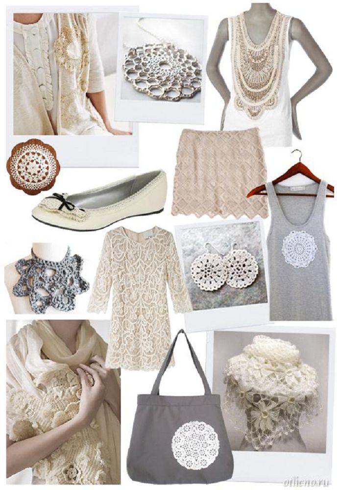 Интересные идеи декора одежды и аксессуаров вязаными элементами - Ярмарка Мастеров - ручная работа, handmade