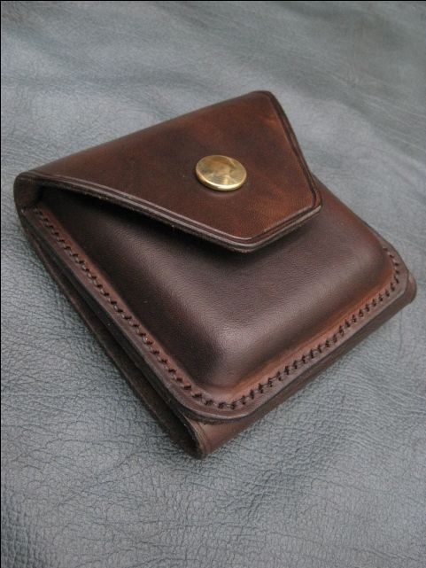 Handmade leather belt pouch.                                                                                                                                                                                 More