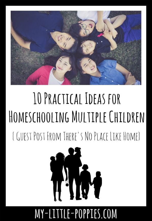 10 Practical Ideas for Homeschooling Multiple Children {Guest Post from Shelly Sangrey, writer at There's No Place Like Home} | My Little Poppies Are you worried about homeschooling multiple ages? In this post Shelly, a mom to eleven children and homesch