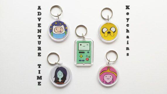 Adventure time sleutelhangers, Bmo, beemo, jake, finn, marceline, bubblegum, cartoon, geek, nerd, tijd voor avontuur, bubbelien, biemo