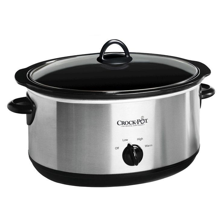 Crock Pot 8 Qt Manual Slow Cooker Stainless Steel Scv800 Silver Slow Cooker Crock Pot Slow Cooker Crockpot