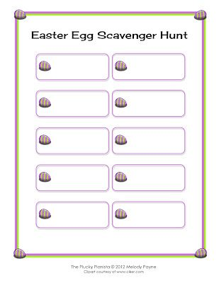 diy easter egg scavenger hunt fill out this blank template in any