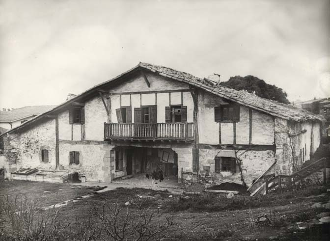 Caserío Jauregi, hacia 1978