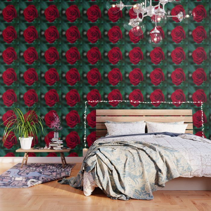 Buy Romantic Red Rose Wallpaper By Newburydesigns Worldwide Shipping Available At Society6 Com Just One Of Millions Of H Rose Wallpaper Wallpaper Wallpaper S