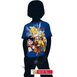 Camiseta azul Dragon Ball Z