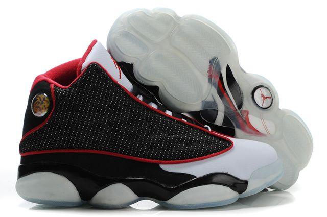 42x1DuS Nike Air Jordan 13 Black White Marykaye White Mens Retro