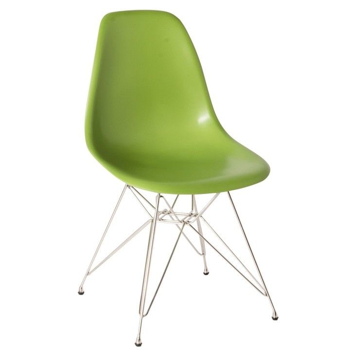 FIVEMORE | Eames Inspired Eiffel Kids Chair in Green - Furniture - 5rooms.com