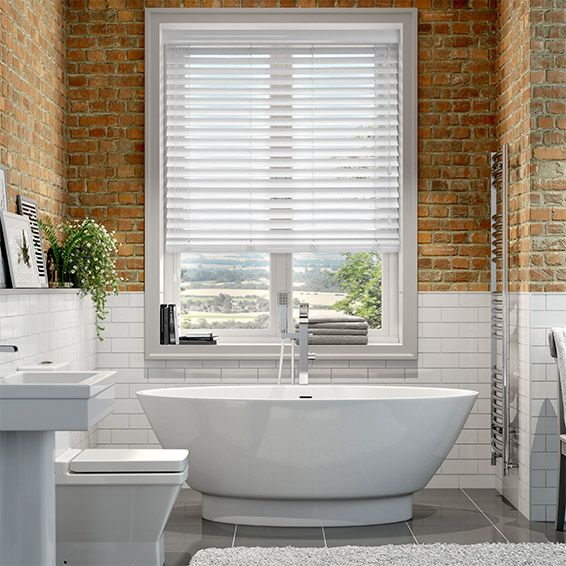 majestic wooden blinds for bathrooms. High Gloss Pure White Faux Wood Blind  50mm Slat 13 best Blinds Venetians images on Pinterest wood