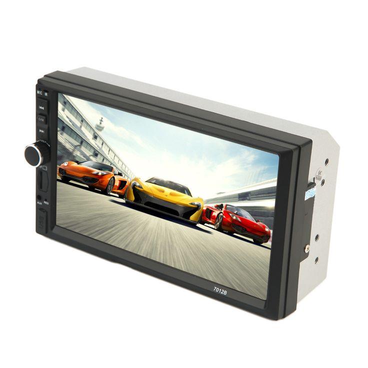 2017 New Hitam 7 Inch Layar Besar HD Sentuh Bluetooth Mobil kendaraan DVD FM/MP5 Radio Player Universal Auto Rear View Camera Masukan