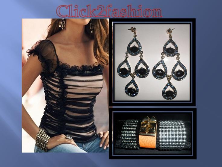 Brinco e pulseiras Click2fashion!!