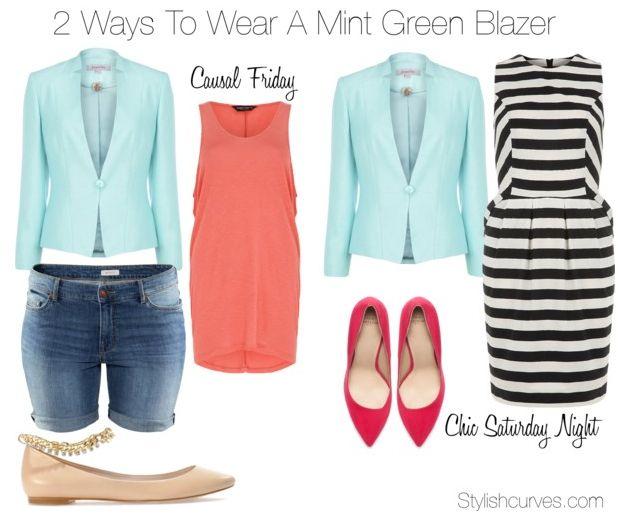 2 Ways To Wear A Mint Green Blazer