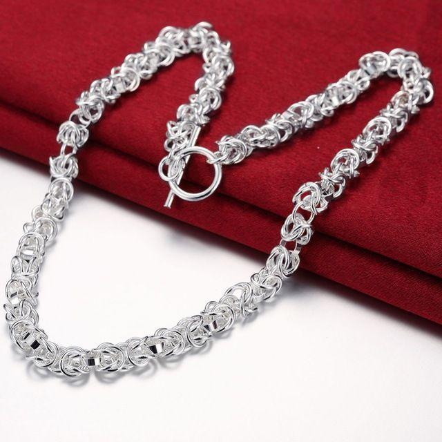 """De los hombres de 18 """"de joyería de moda colgantes Cadenas, Collar de 925 joyas de plata collar de Cabeza de Dragón Collar tqgn nlhe"""