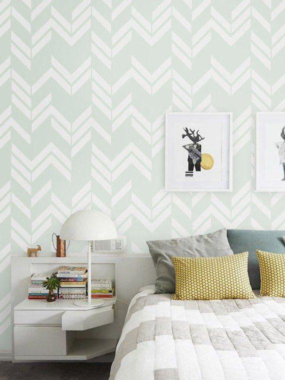 Nursery Self Adhesive Removable Wallpaper Wall Covering Etsy Serene Bedroom Vinyl Wallpaper Vinyl Wall Covering