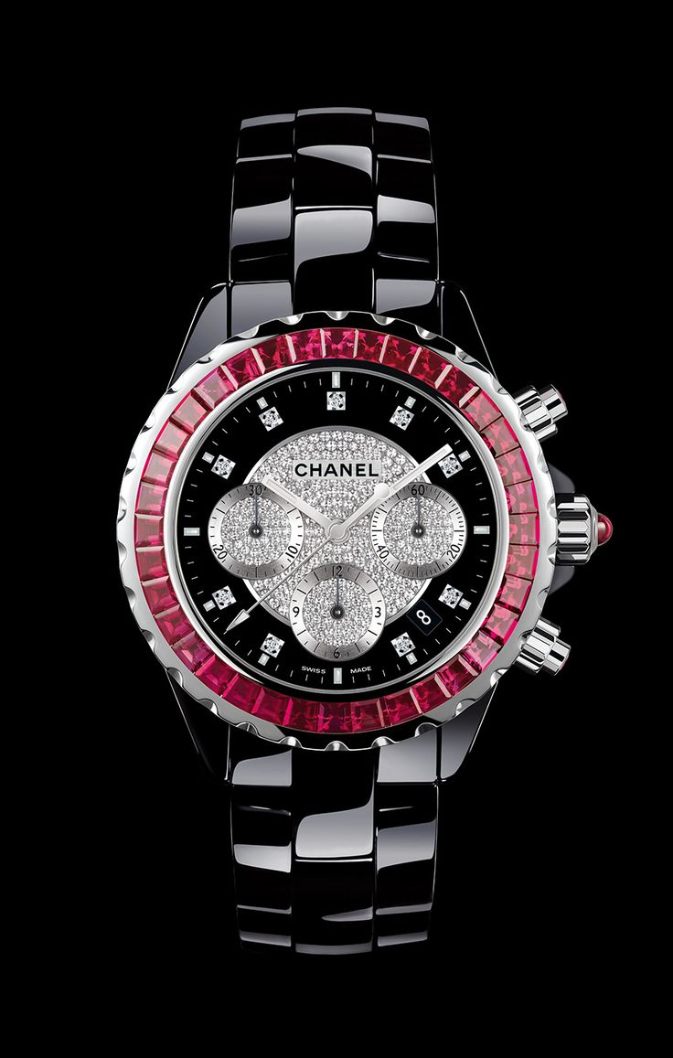 Google image result for http image spreadshirt com image server v1 - Chanel J12 Jewelry Watch 18k White Gold And Black High Tech Ceramic 36