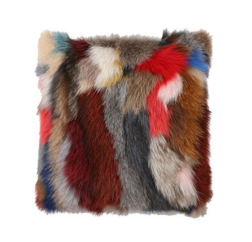 Easting Multicoloured Real Fox Fur Pillow Case Cushion Co...