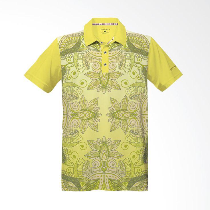 Svingolf Batik Lotus Lemon Polo Shirt Baju Golf