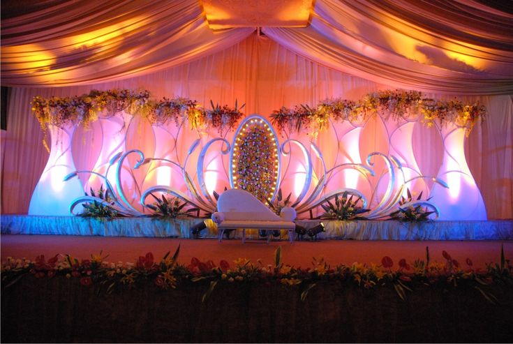 Outdoor indian wedding stage decorations indian wedding for Background decoration for indian wedding