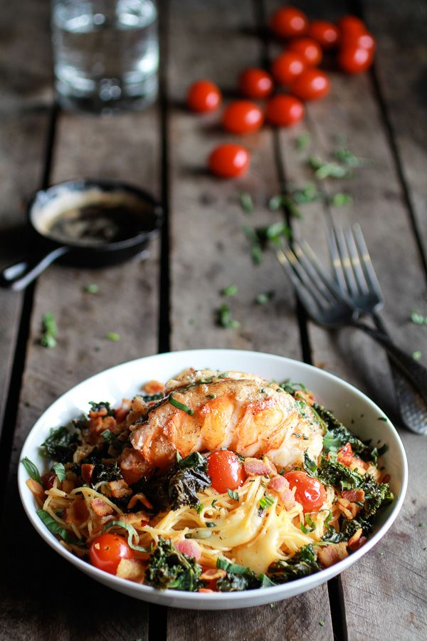 Brown-Butter-Lobster-+-Crispy-Kale-and-Fontina-Pasta-with-Bacon-12.jpg 600×900 pixels